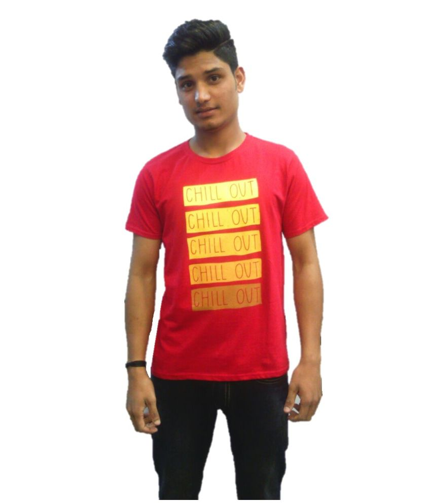 Tantra Red Cotton T Shirt
