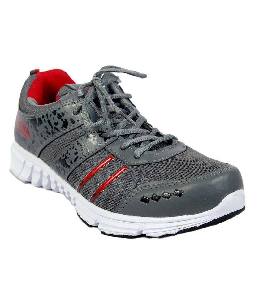 Tavera Gray Meshtextile Men's Sports Shoes