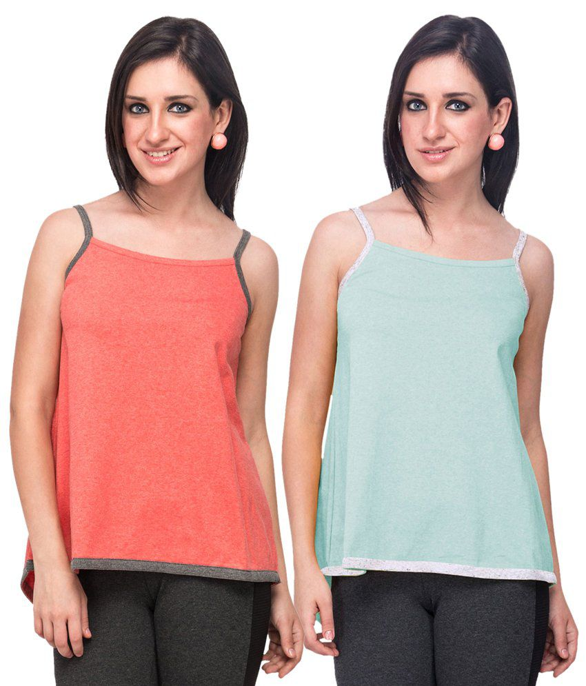 Campus Sutra Pink  Camisoles Pack of 2