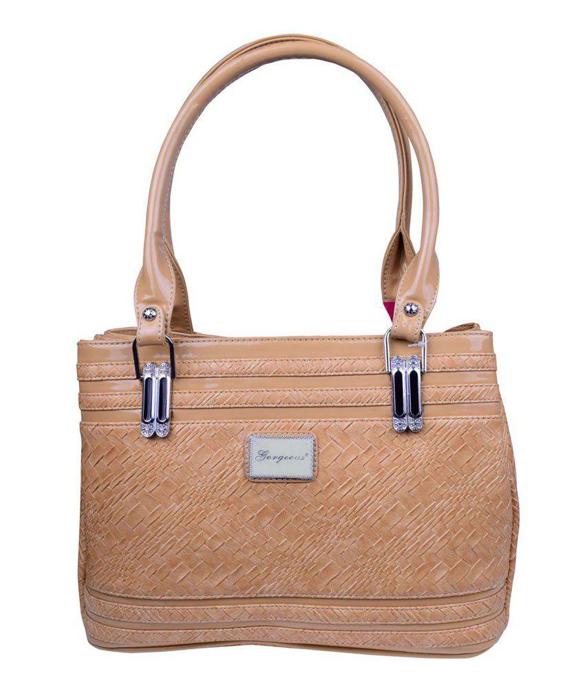 Gorgeous Women Beige Shoulder Bag