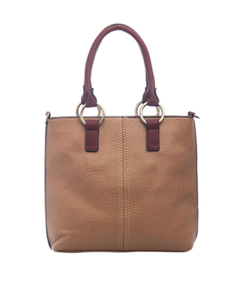 Satchel Bags & Accessories Beige Shoulder Bag