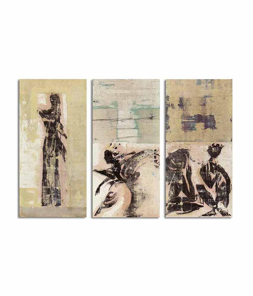 Painting Mantra Figurative Split Canvas Art Set