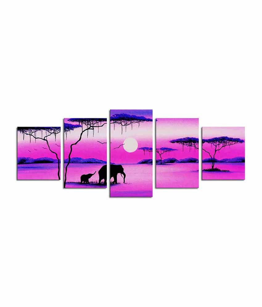 Painting Mantra Sunrise Canvas Designer Art Set - 4 piece