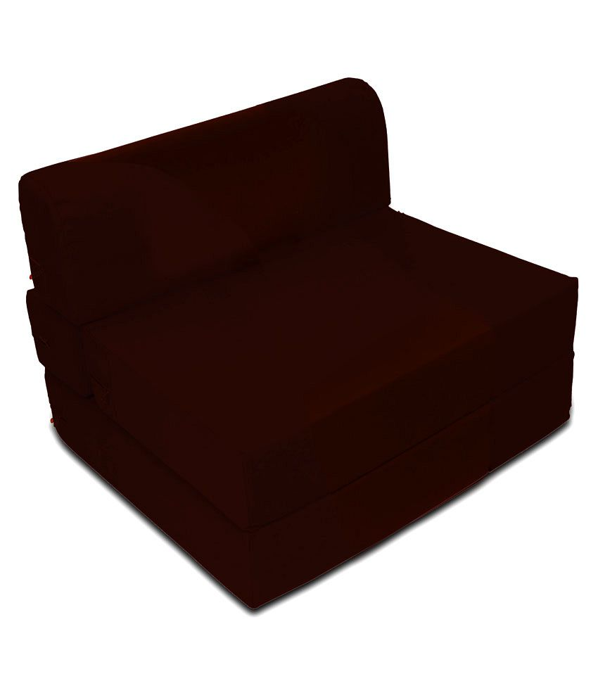 dophin zeal single size sofa cum bed brown