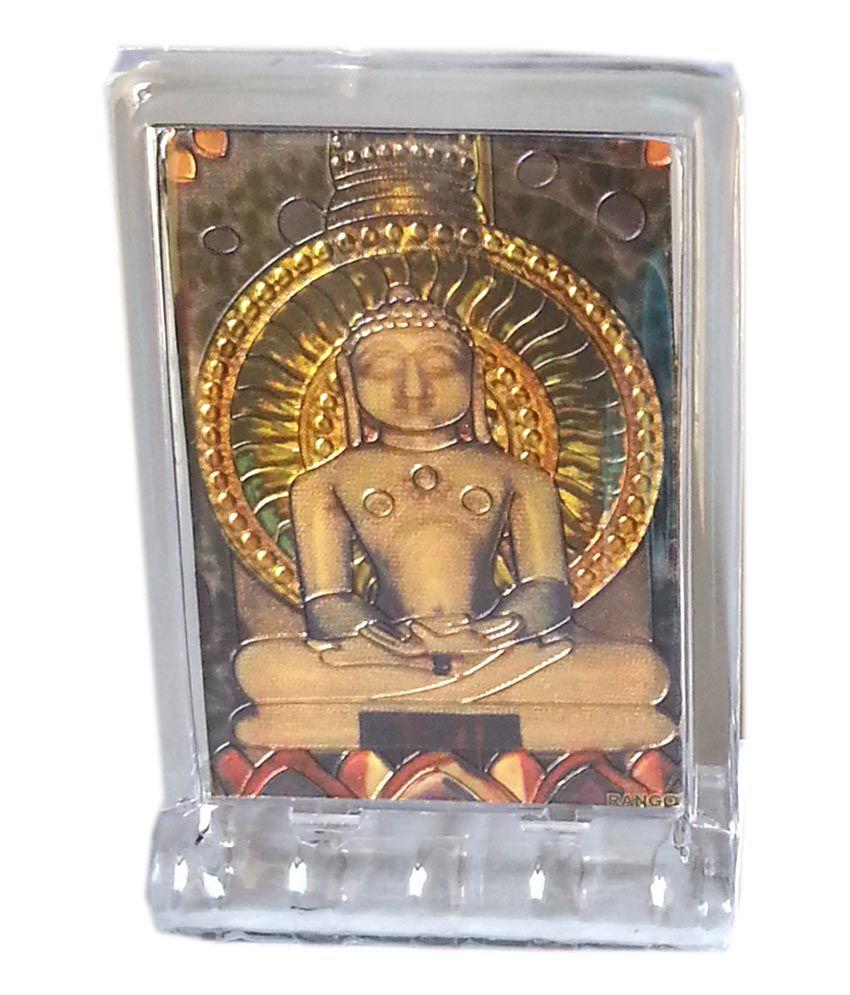 Gold Art 4 U Gold Foil Mahavir God Image With Frame