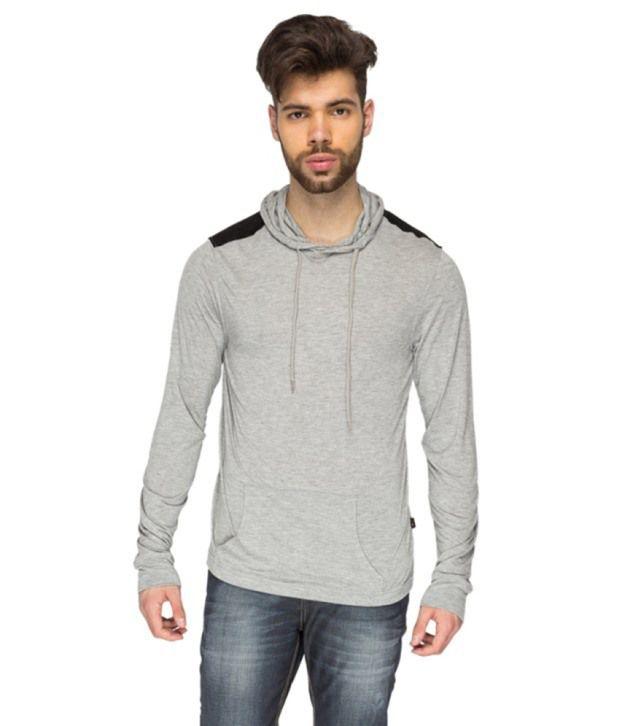 Identiti Gray Cotton Hooded