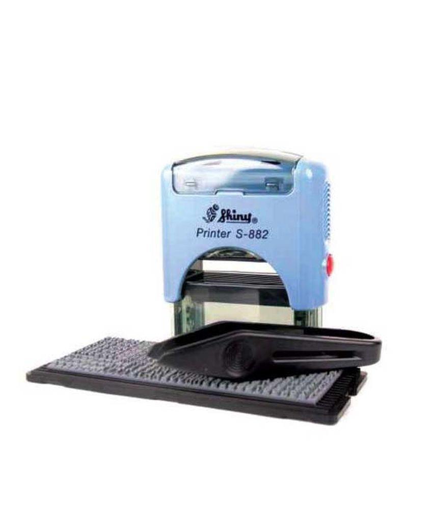 Shiny S-882 Self Inking Stamp Printing Kit DIY Set