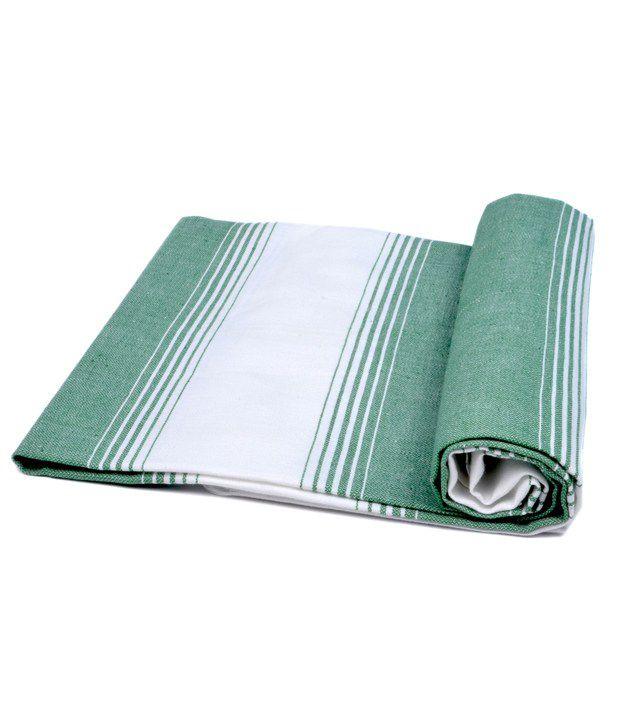 Sathya Single Cotton Bath Towel - Green
