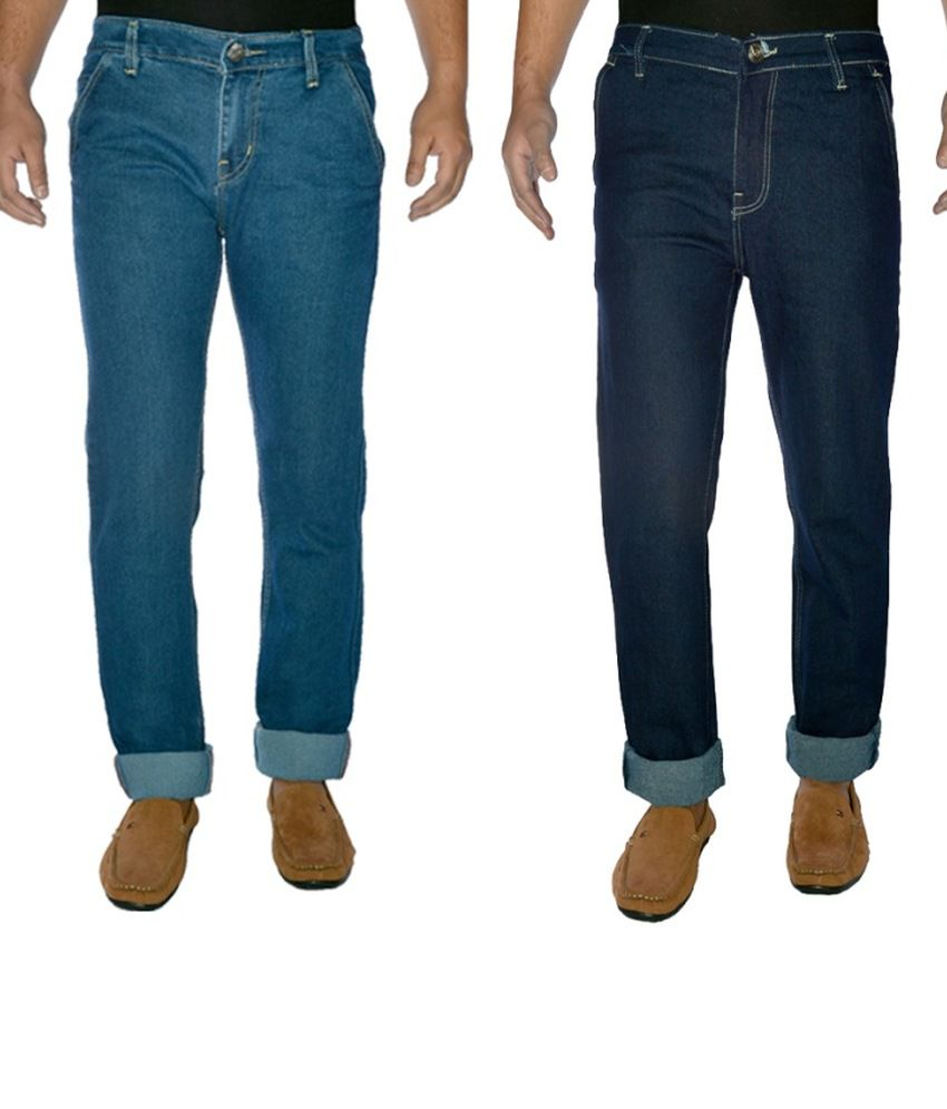 Western Texas Cotton Regular Men Jeans Pack Of 2