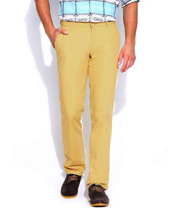 Ad & Av Khakhi Cotton Lycra Stretchable Chinos
