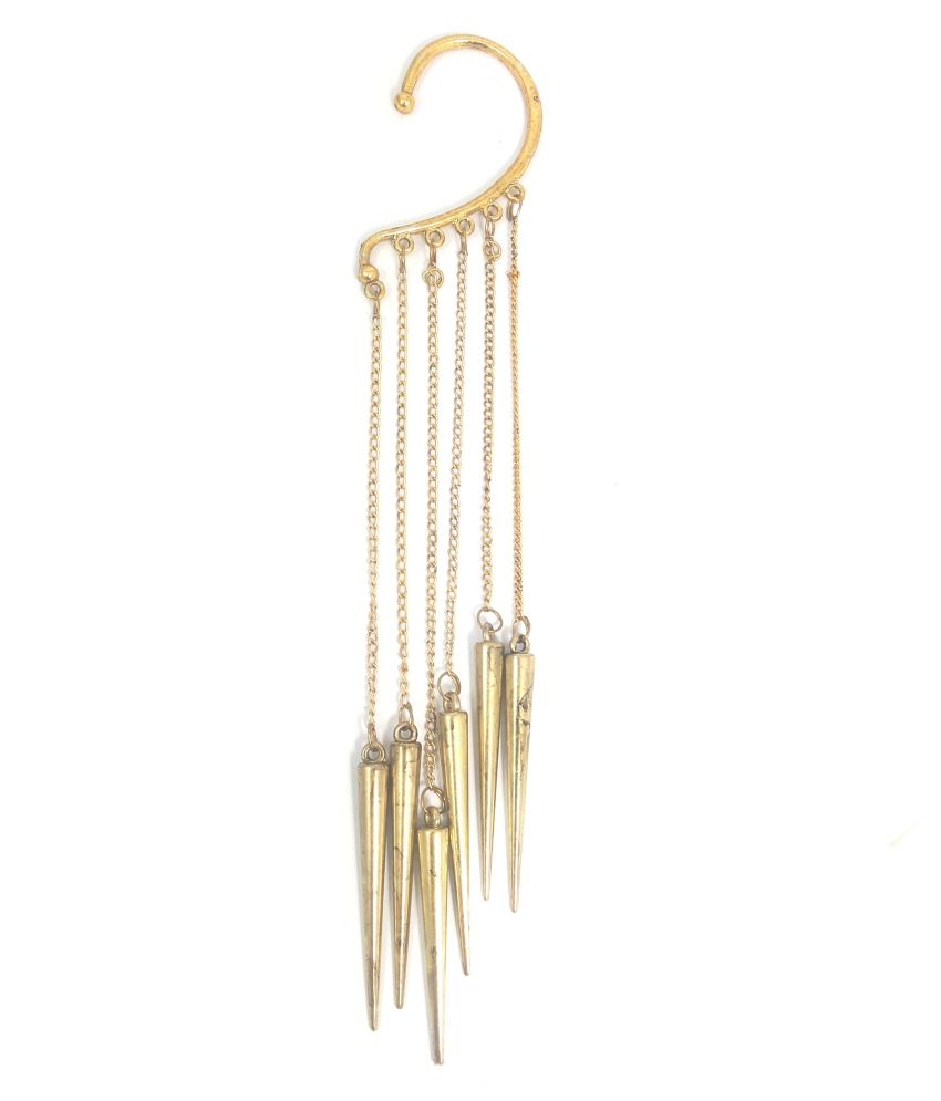 Ammvi Creations Dangling Spikes Single Ear Cuff
