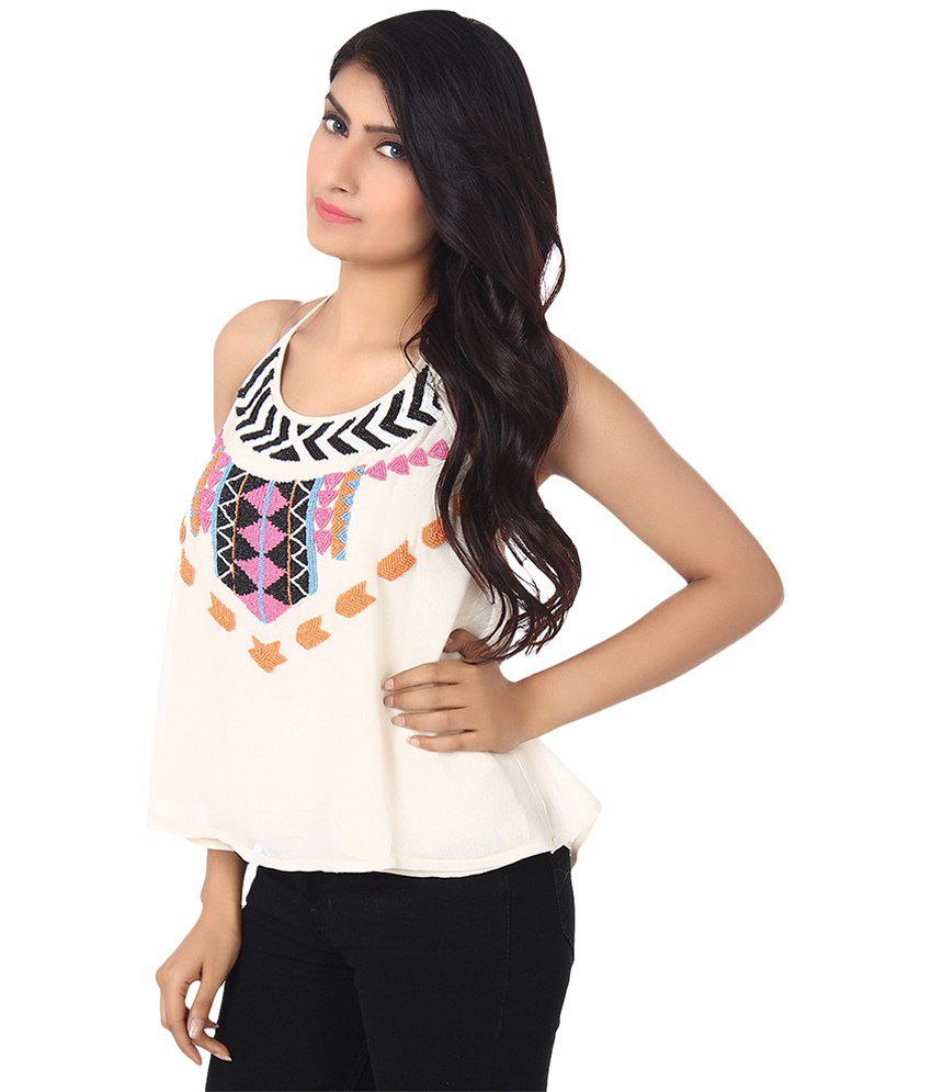 ab3979db7be7 Forever21 White Polyester Tops - Buy Forever21 White Polyester Tops ...