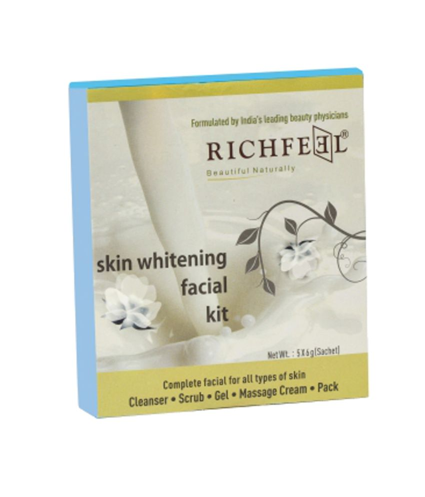 Richfeel Skin Whitening Facial Kit 30gm Price In India Buy Lightening Scrub 30 Gm Pack Of 3