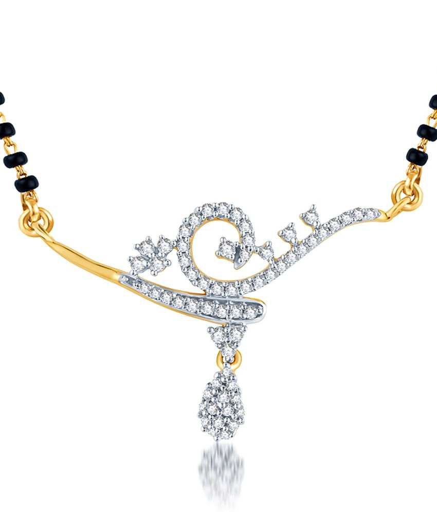 KaratCraft Suvidatraa 18Kt Hallmarked Diamond Studded Gold Pendant - SIJK