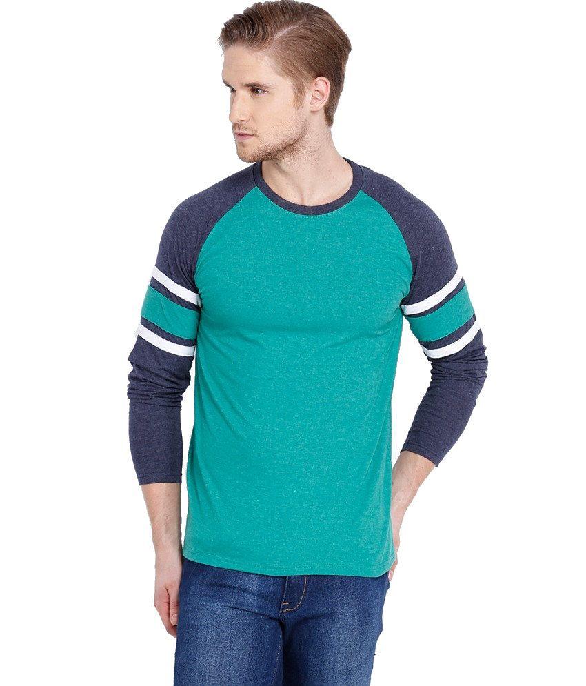 Locomotive Turquoise Cotton Blend T shirt
