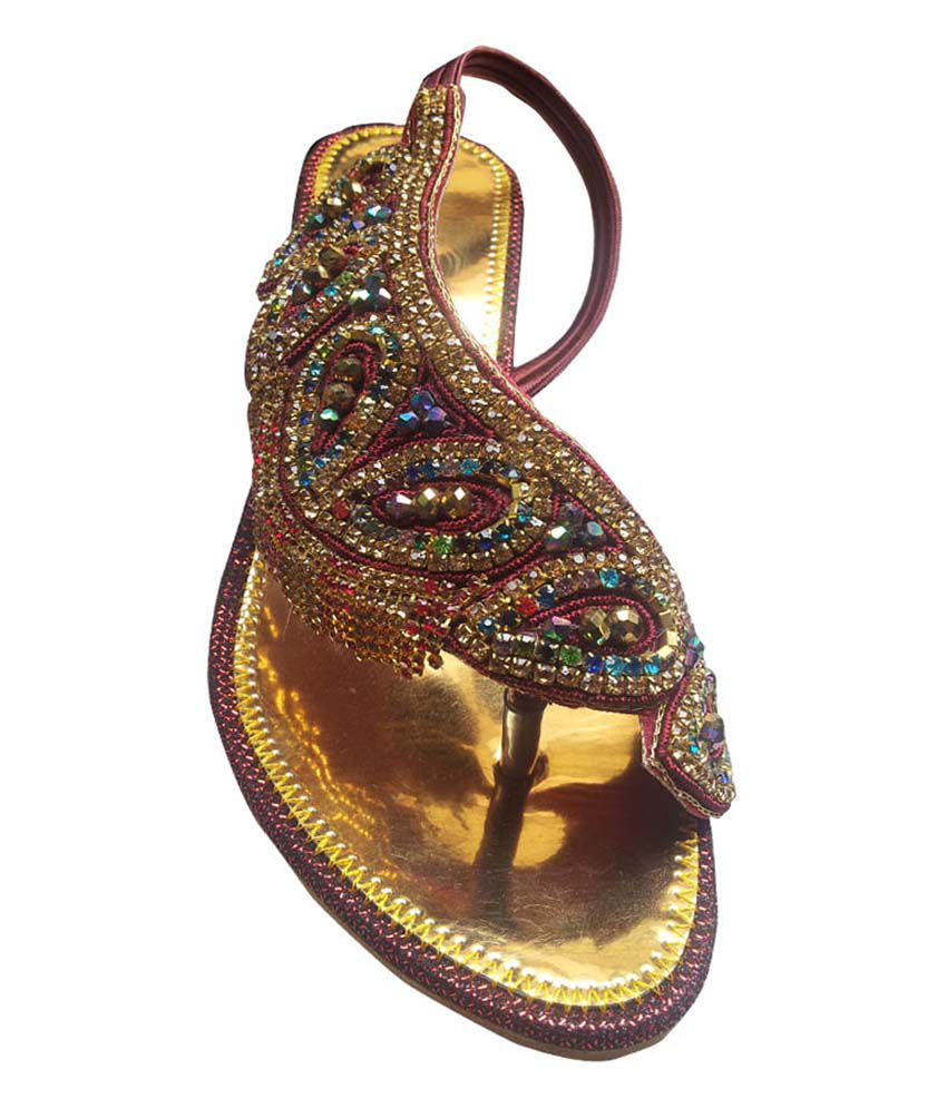 380ed6811ff Vaishnovi Fancy Ladies Sandals With Heavy Stone Work Price in India ...
