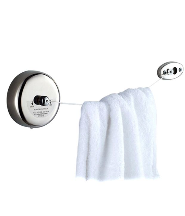 ... Dolphy Stainless Steel Retractable Towel Rack