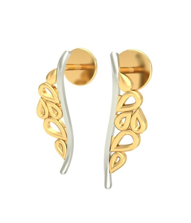 Jewelsnext Gold 18kt Hallmarked Studs With Free 5gram Silver Coin