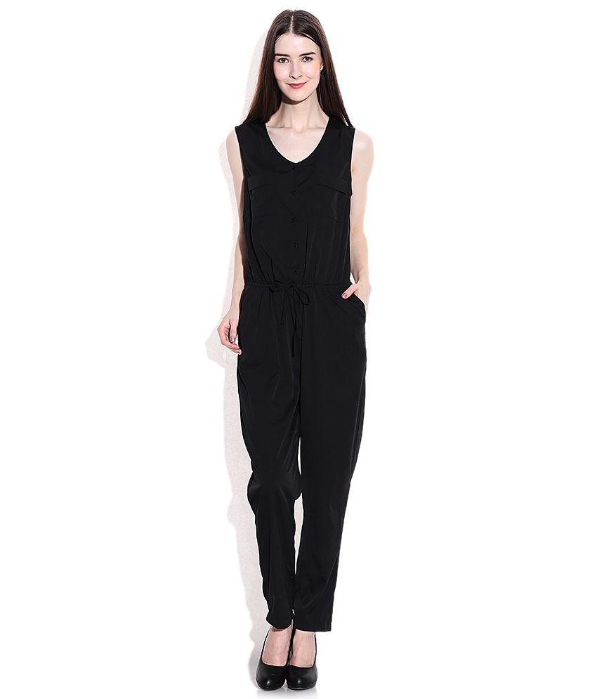 46d85e0b9e3 Only Black Polyester Jumpsuits - Buy Only Black Polyester Jumpsuits Online  at Best Prices in India on Snapdeal