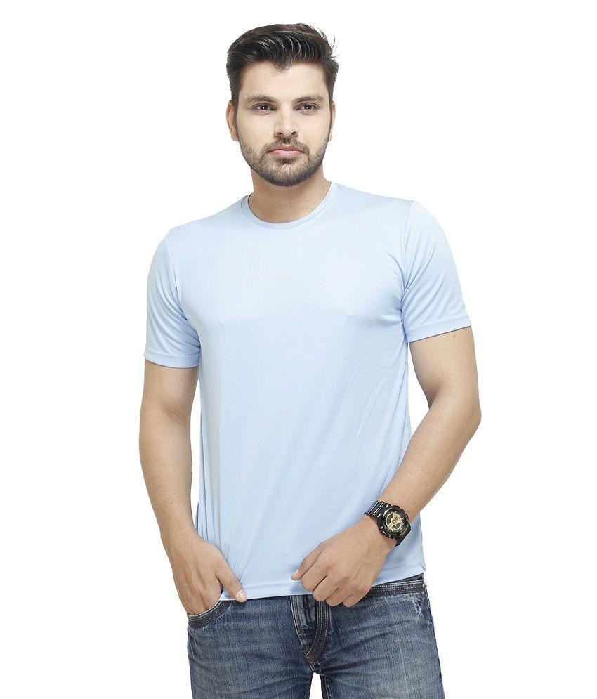 Profiler Blue Polyester Round Neck Half T Shirt