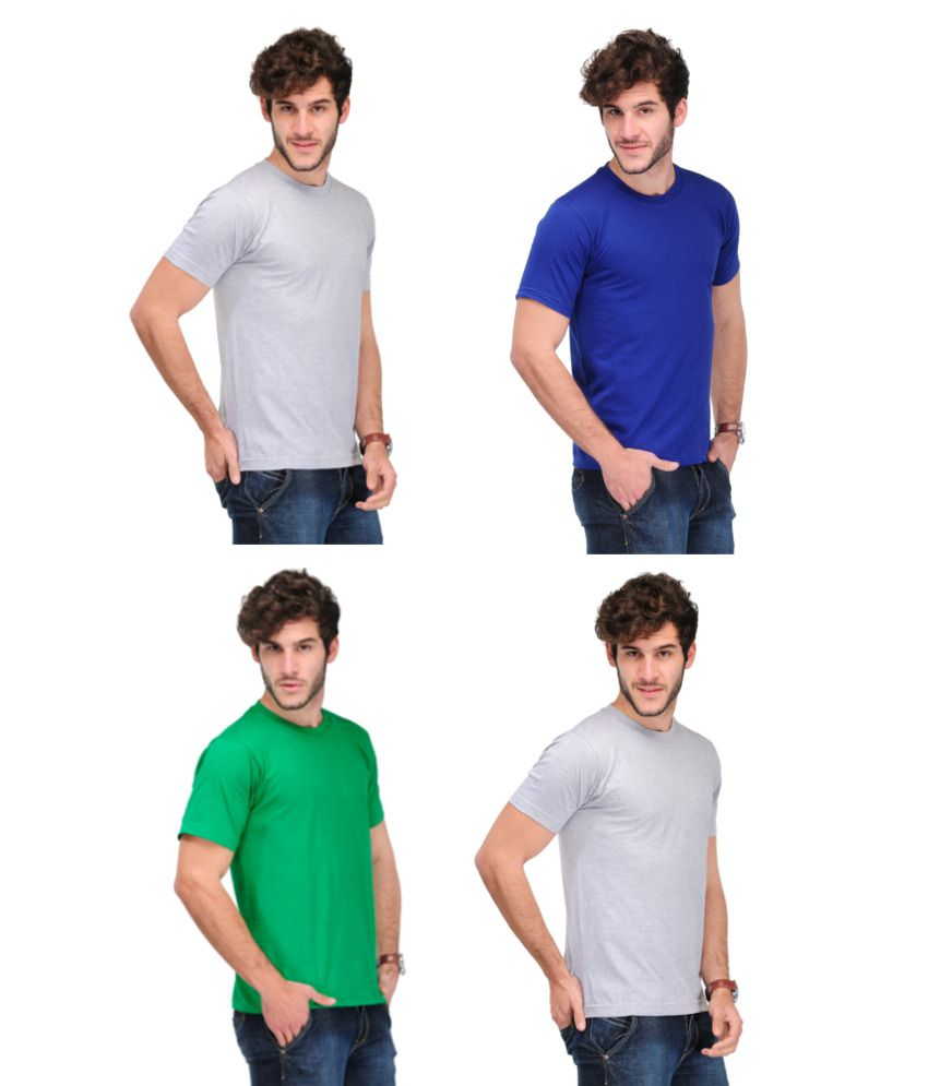 TSX Combo Of 4 Solid T-shirts