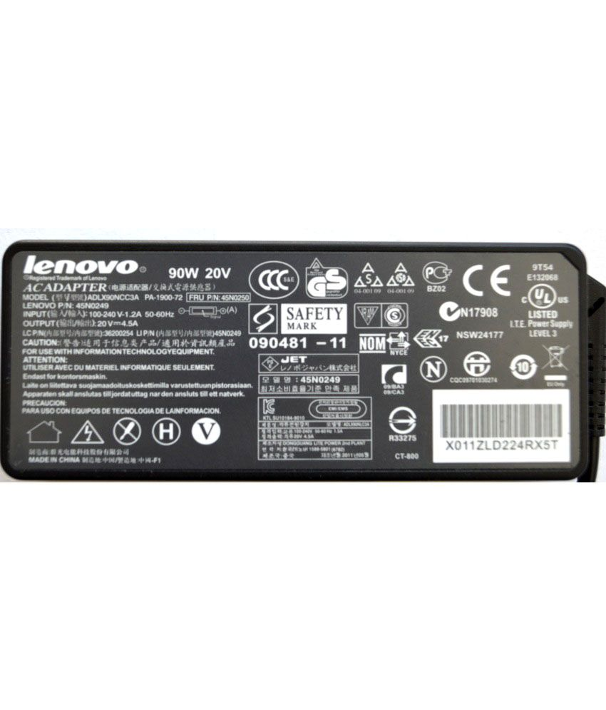 Lenovo ThinkPad EDGE E50 Original Box 90 Watt Laptop Adapter With Free Clean India Wooden Pen