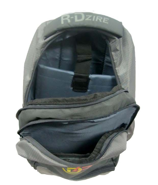 R-dzire Grey Water Resistant Laptop Backpack