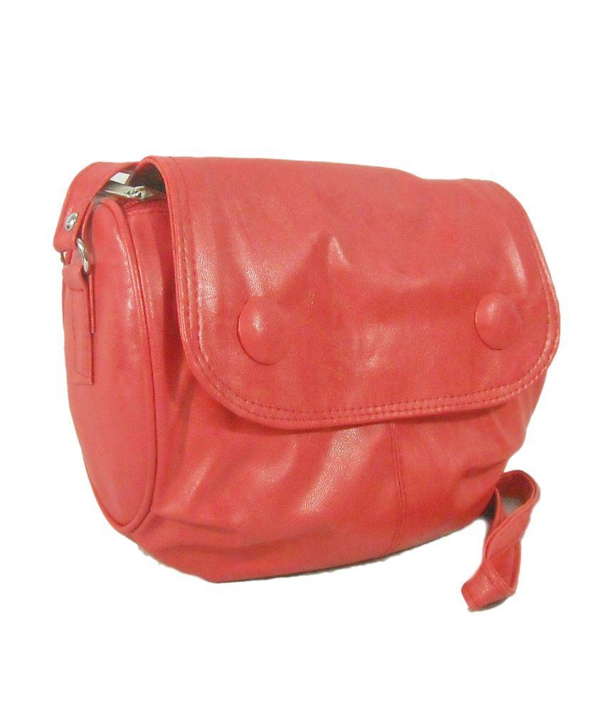 Estoss Red P.U. Designer Sling Bag