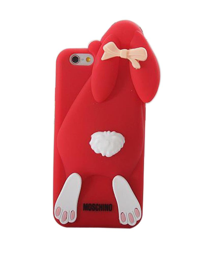 buy online 362a4 31690 Go Crazzy Moschino Rabbit Soft Silicone Back Case Cover For Iphone 6 Plus  5.5 Inch