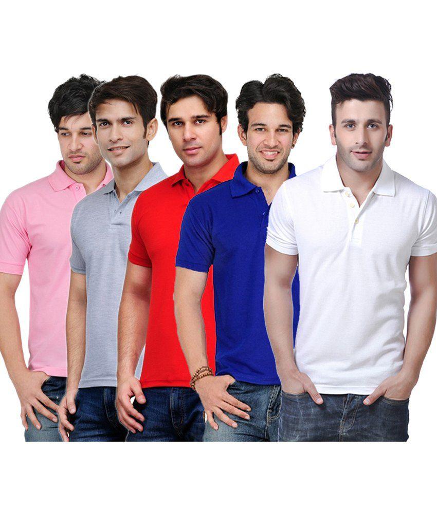 Rakshita's Collection Cotton T- Shirt (SET OF 5)
