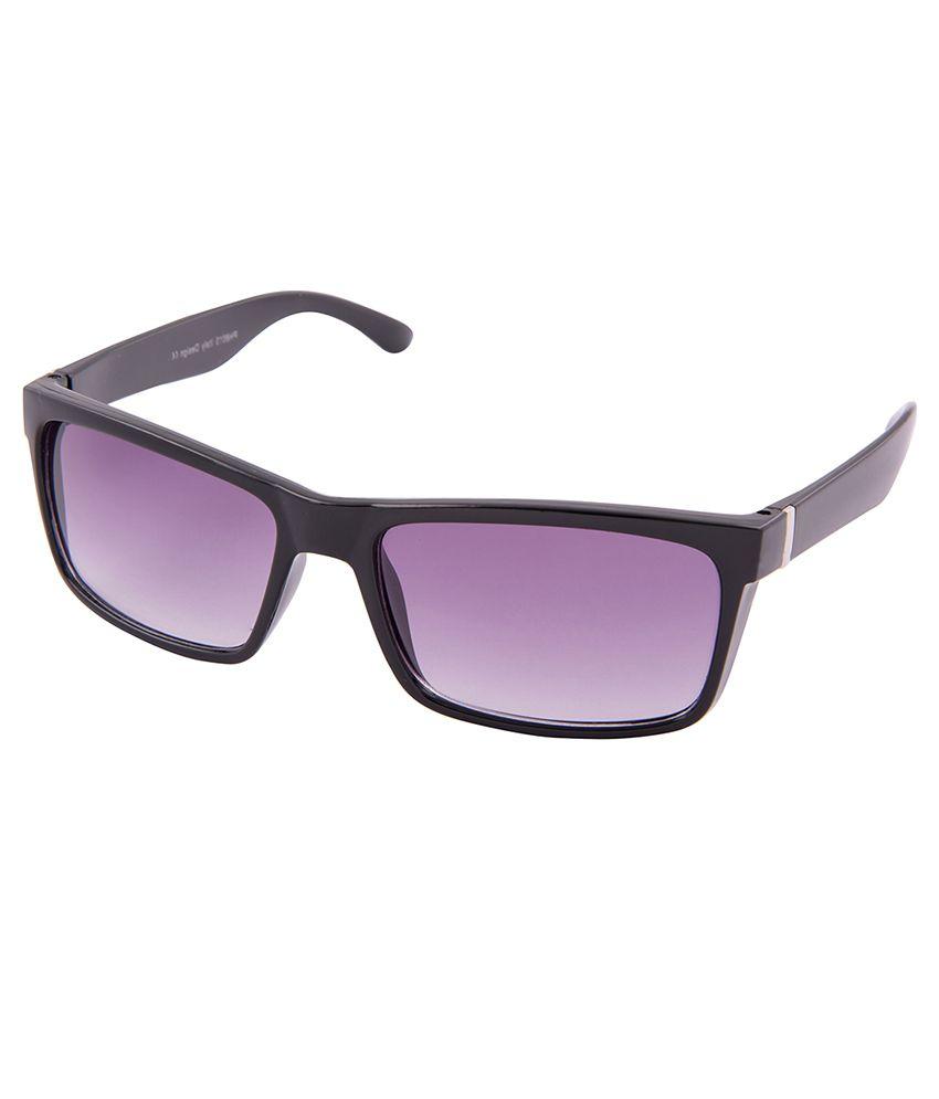 Black BLKPH8015GLOBLKPUR Rectangle Sunglasses