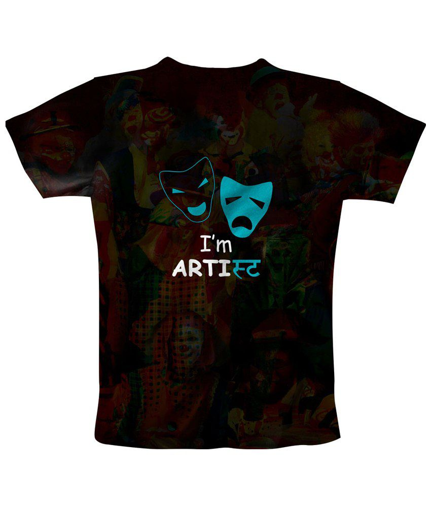 Freecultr Express Black & Blue I Am An Artist Printed T Shirt