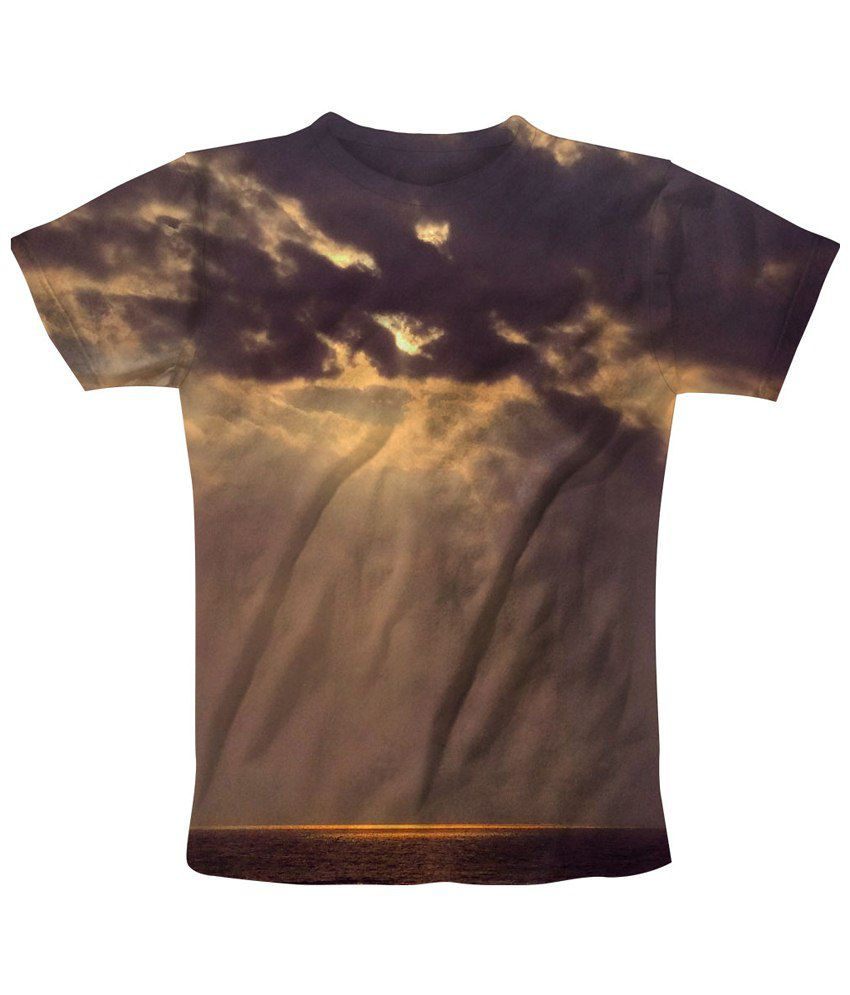 Freecultr Express Brown Almost Eve Printed T Shirt