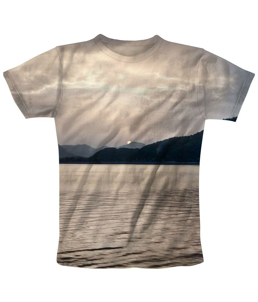 Freecultr Express Gray Sun Peak Printed T Shirt