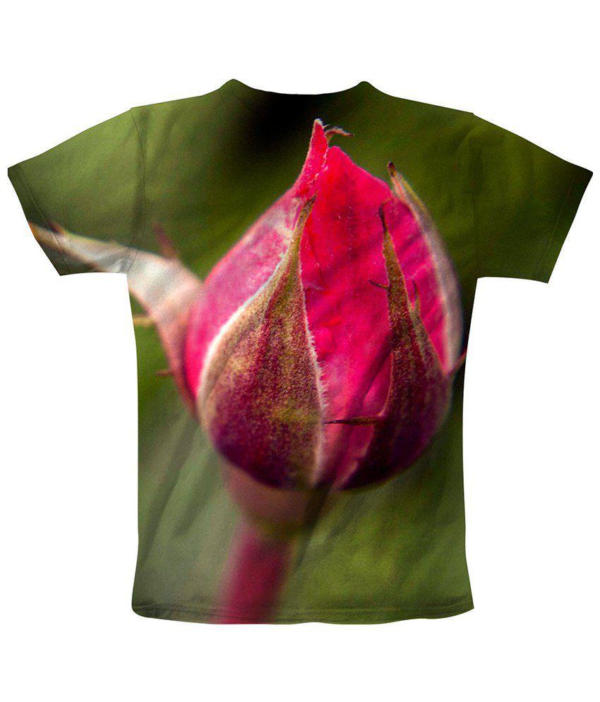 Freecultr Express Green & Pink Closeup 2 Printed T Shirt