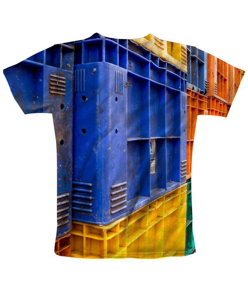 Freecultr Express Multicolour Stacked Printed T Shirt
