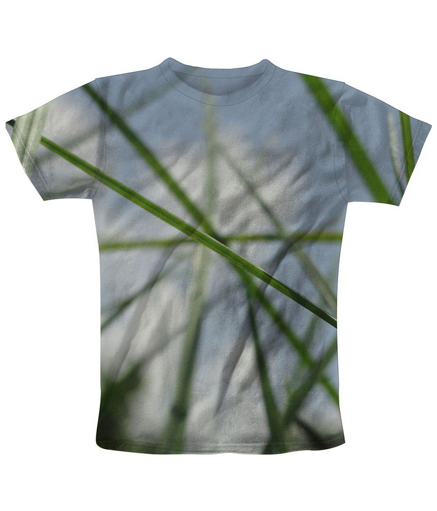 Freecultr Express White & Green Stalk Graphic T Shirt