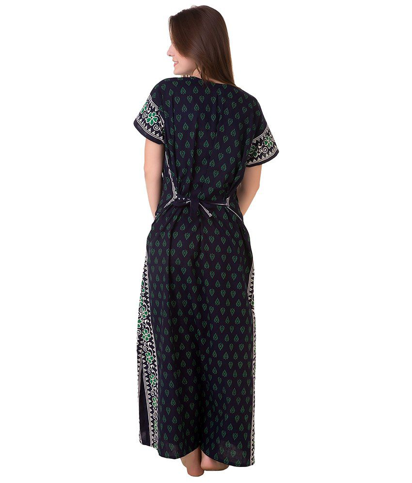Buy Masha Green Cotton Nighty Online at Best Prices in India - Snapdeal 7d22beb10
