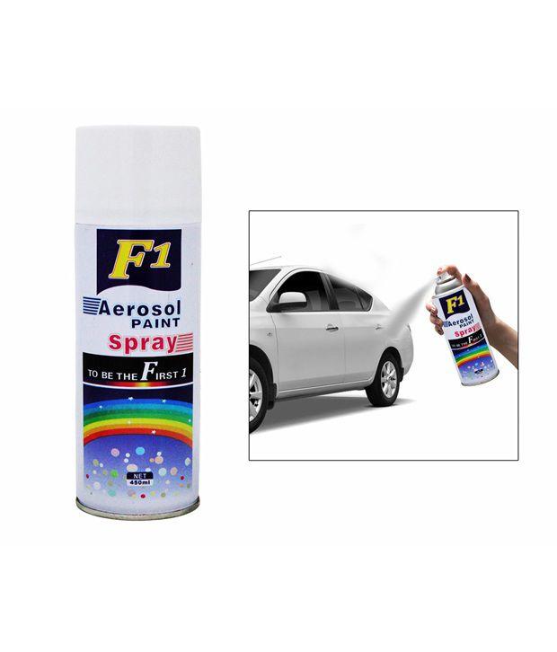 Spedy F1 Car Touchup Spray Paint 450Ml White-Volkswagen Vento