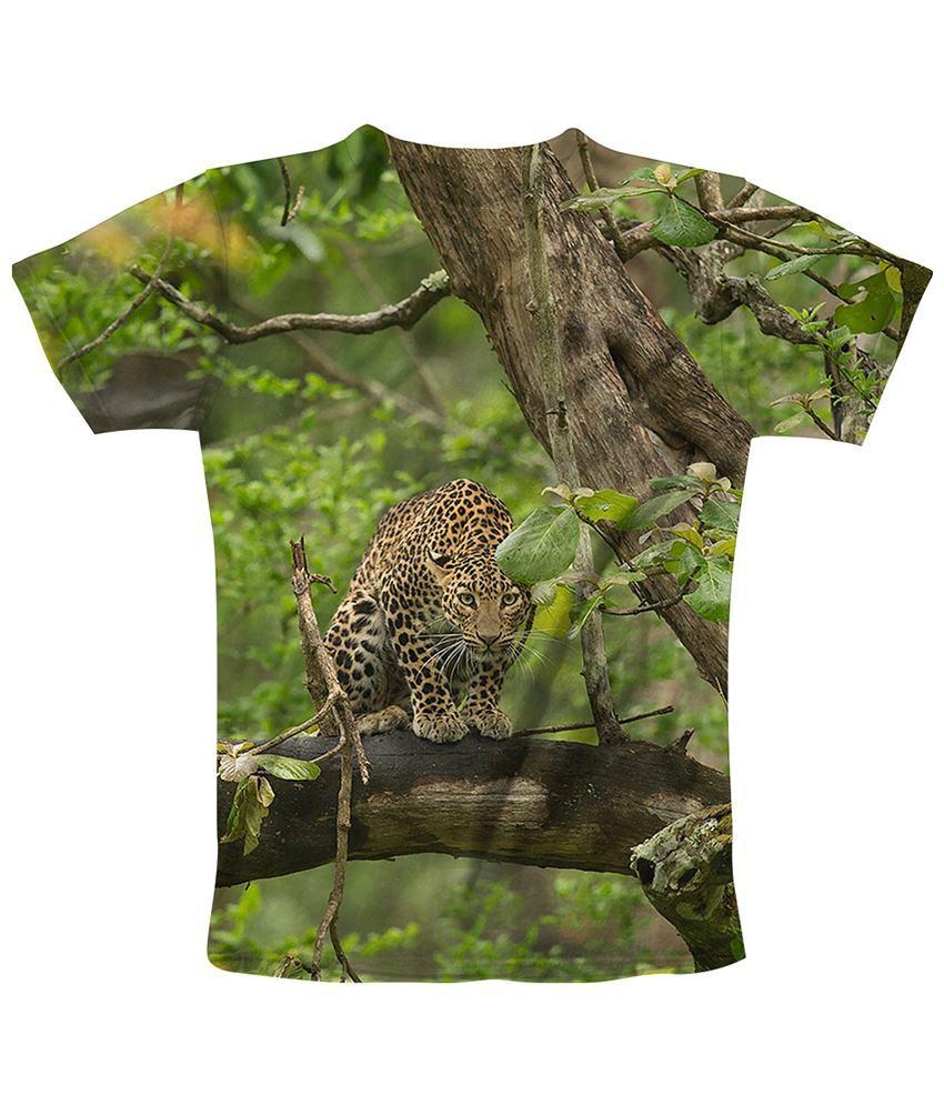 Freecultr Express Green & Brown Hide Printed T Shirt