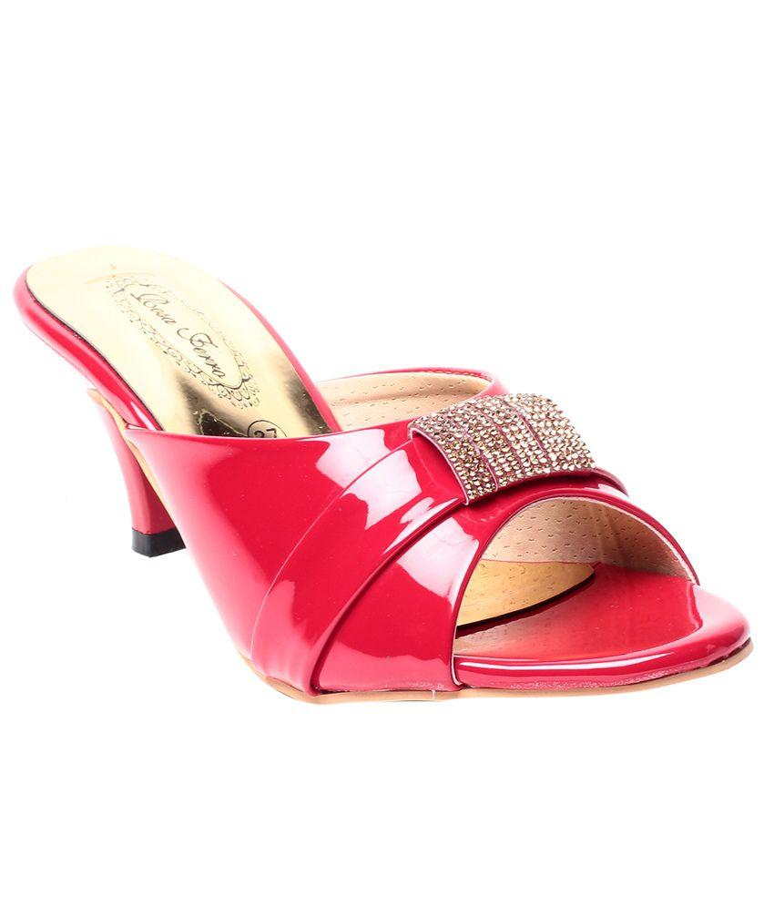 Rosa Ferro Red Daily Wear Slip-on Sandal