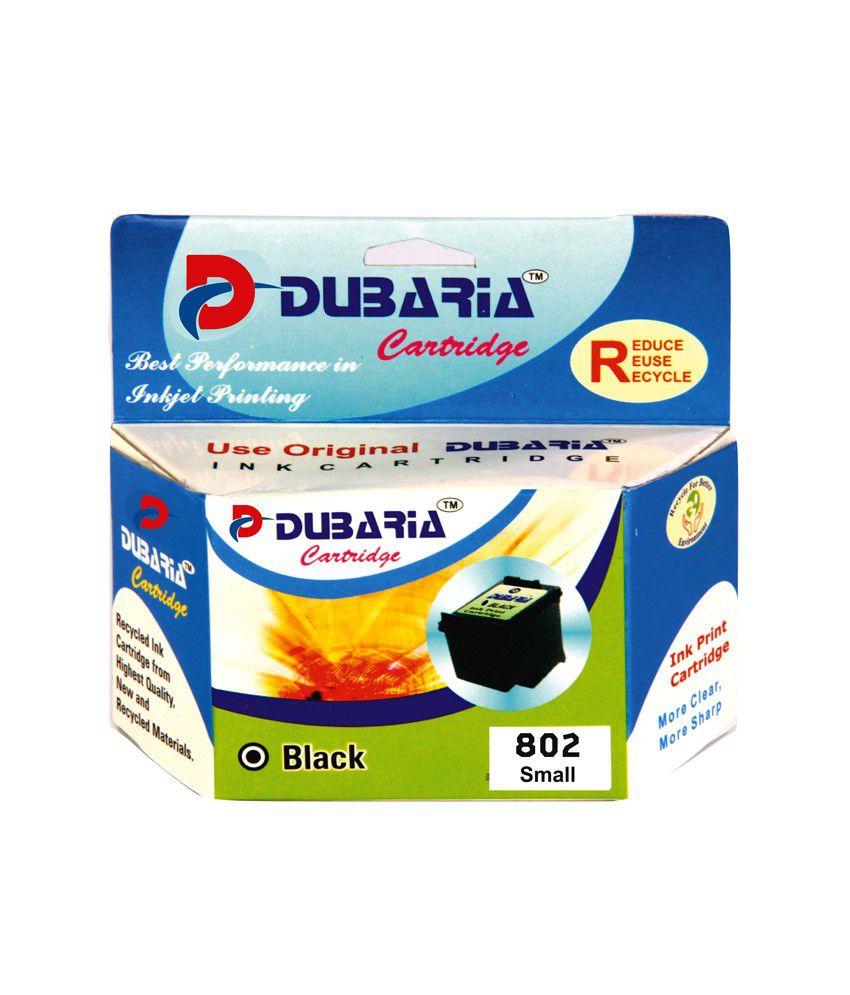 Dubaria 802 Black Ink Cartridge For Hp 802 Black Ink Cartridge - Buy Dubaria 802 Black Ink Cartridge For Hp 802 Black Ink Cartridge Online at Low Price in ...