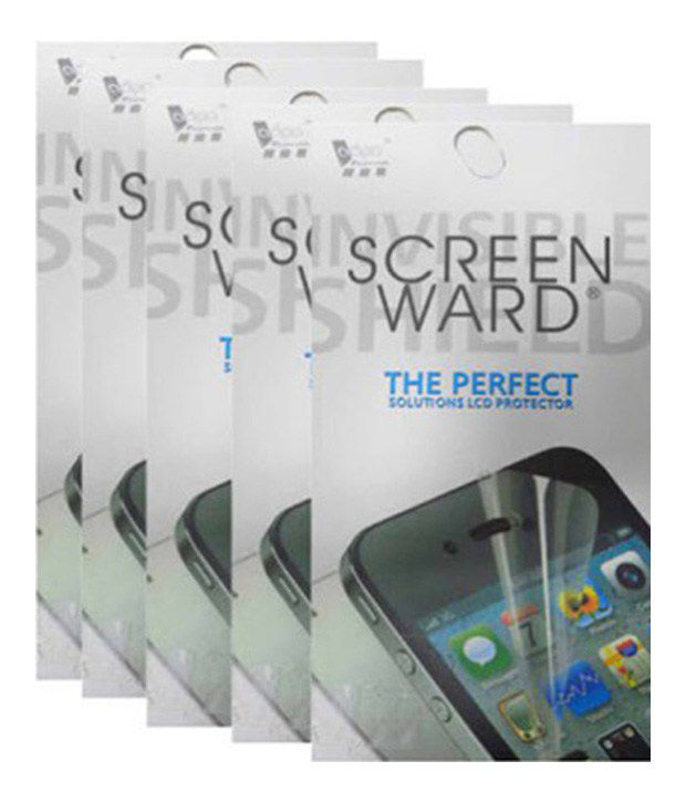 Screenward Clear Screen Guard Pack Of 5 for Htc Desire 516
