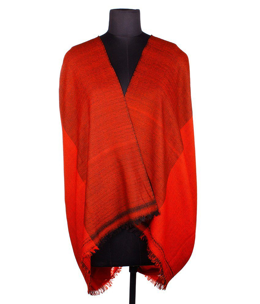 Tribes India Red Shawl