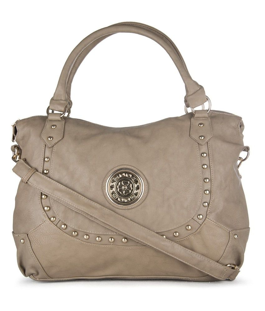Carry On Handbags Gray Pu Shoulder Bags