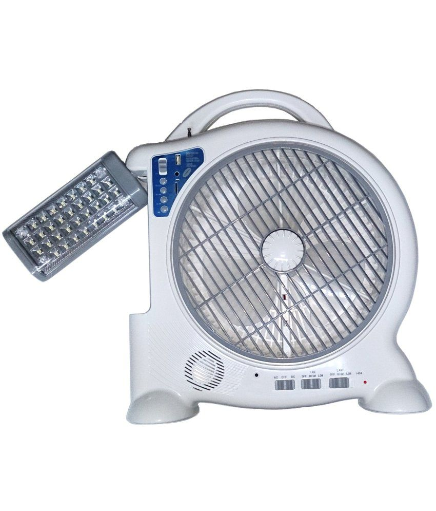 tuscan rechargeable table fan with adjustable emergency led light rh snapdeal com