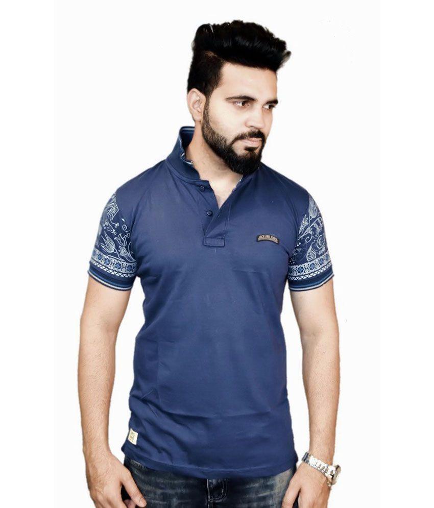 Originals Blue Cotton Printed T-Shirt