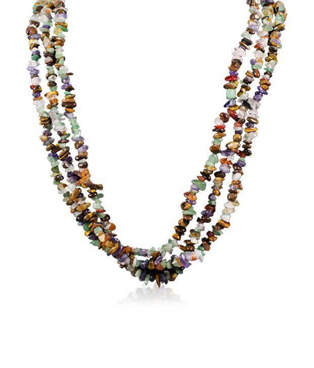 Swanvi Multicolour Contemporary Alloy Antique Dailywear Full Of Joy Necklace