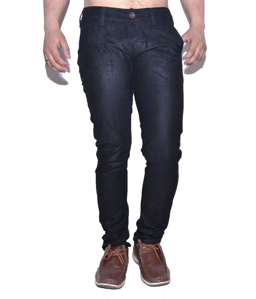 Nation Mania Corduroy Black Slim Trouser