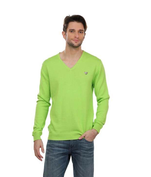 Abinaya Enterprises Green Cotton Blend T-Shirt